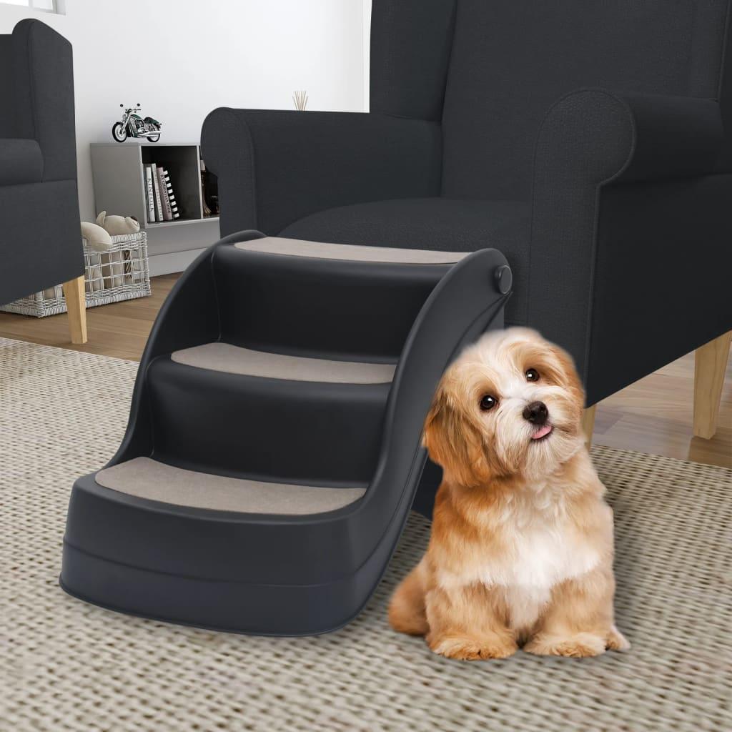 3 sklopive stepenice za pse crne