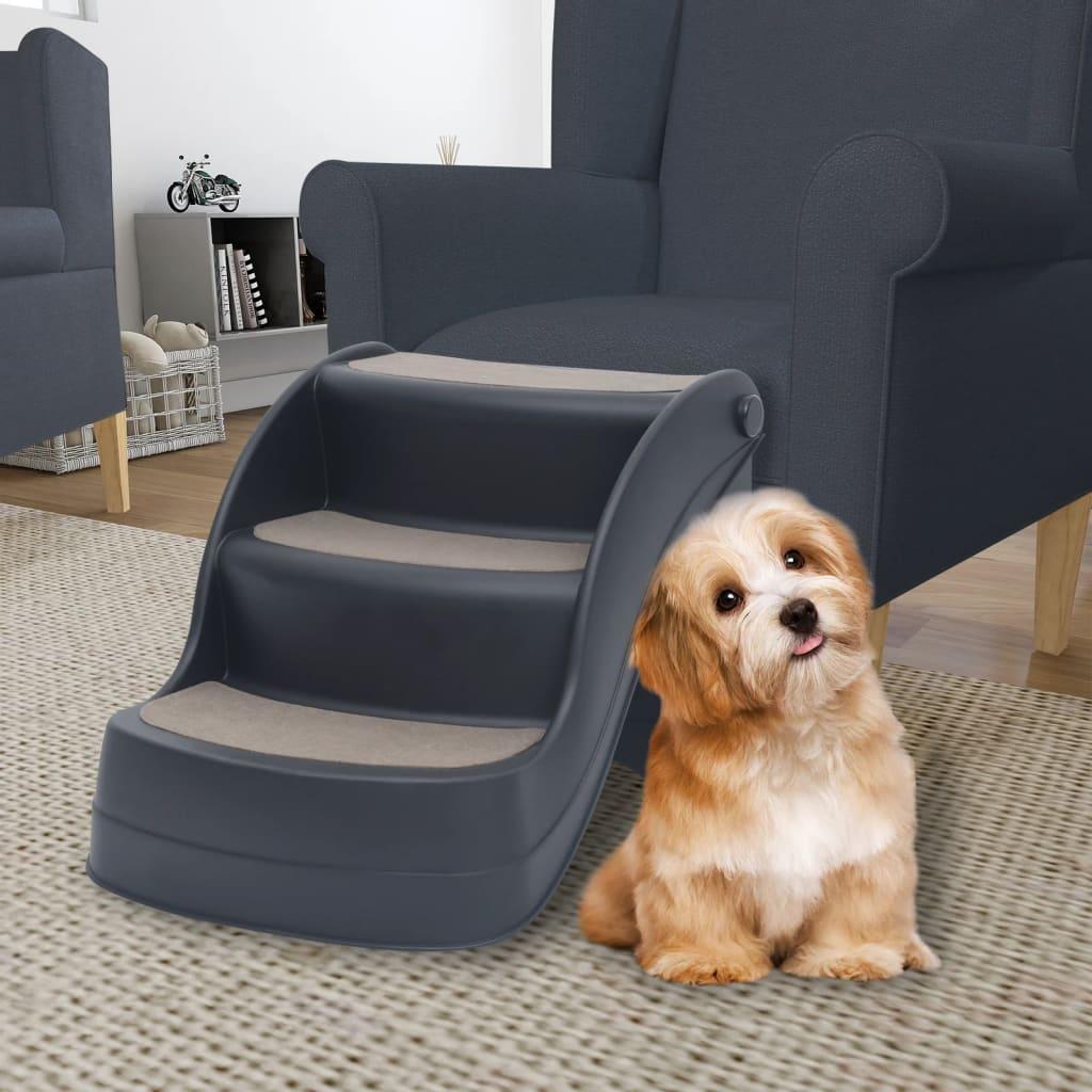 3 sklopive stepenice za pse tamnosive