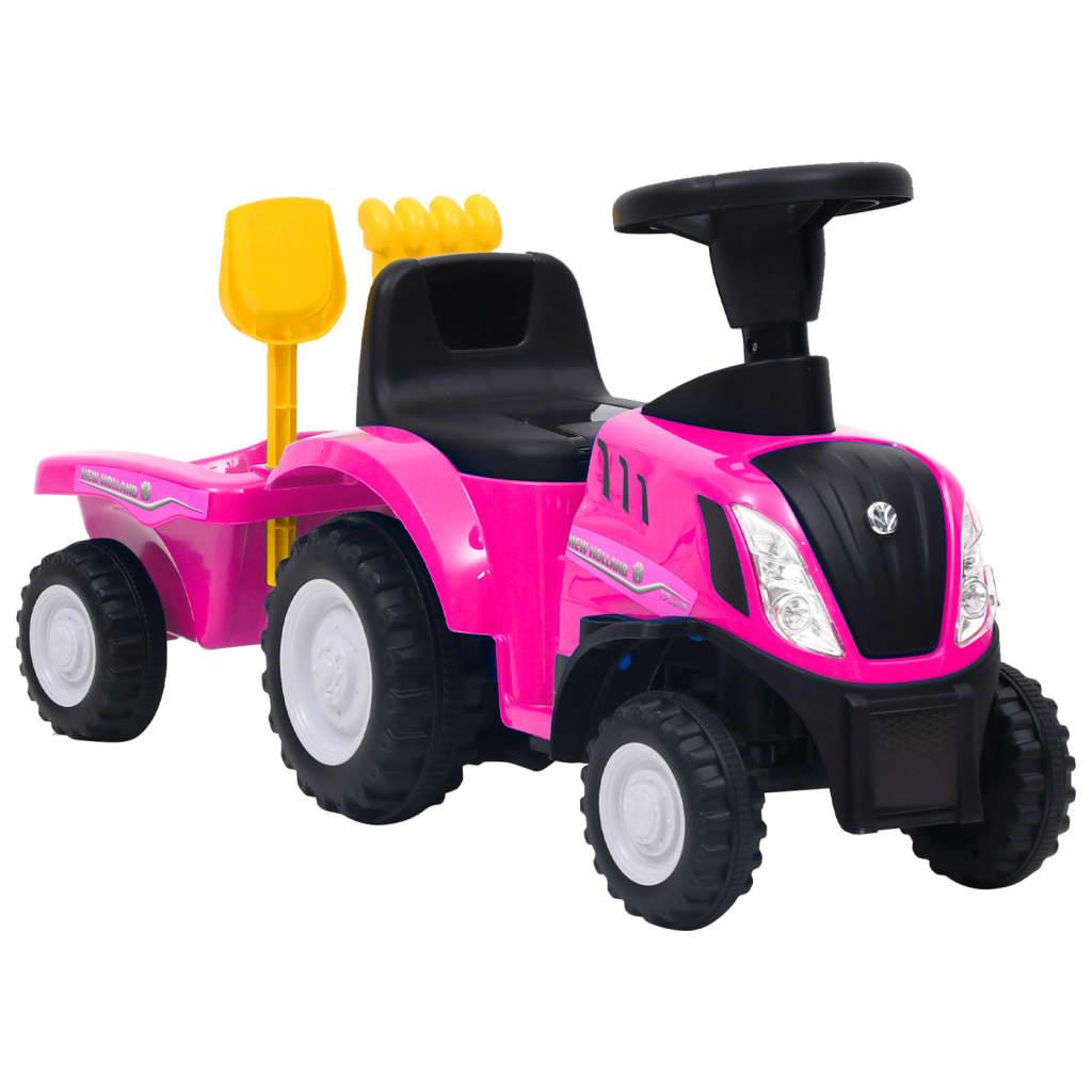 Dječji traktor New Holland ružičasti