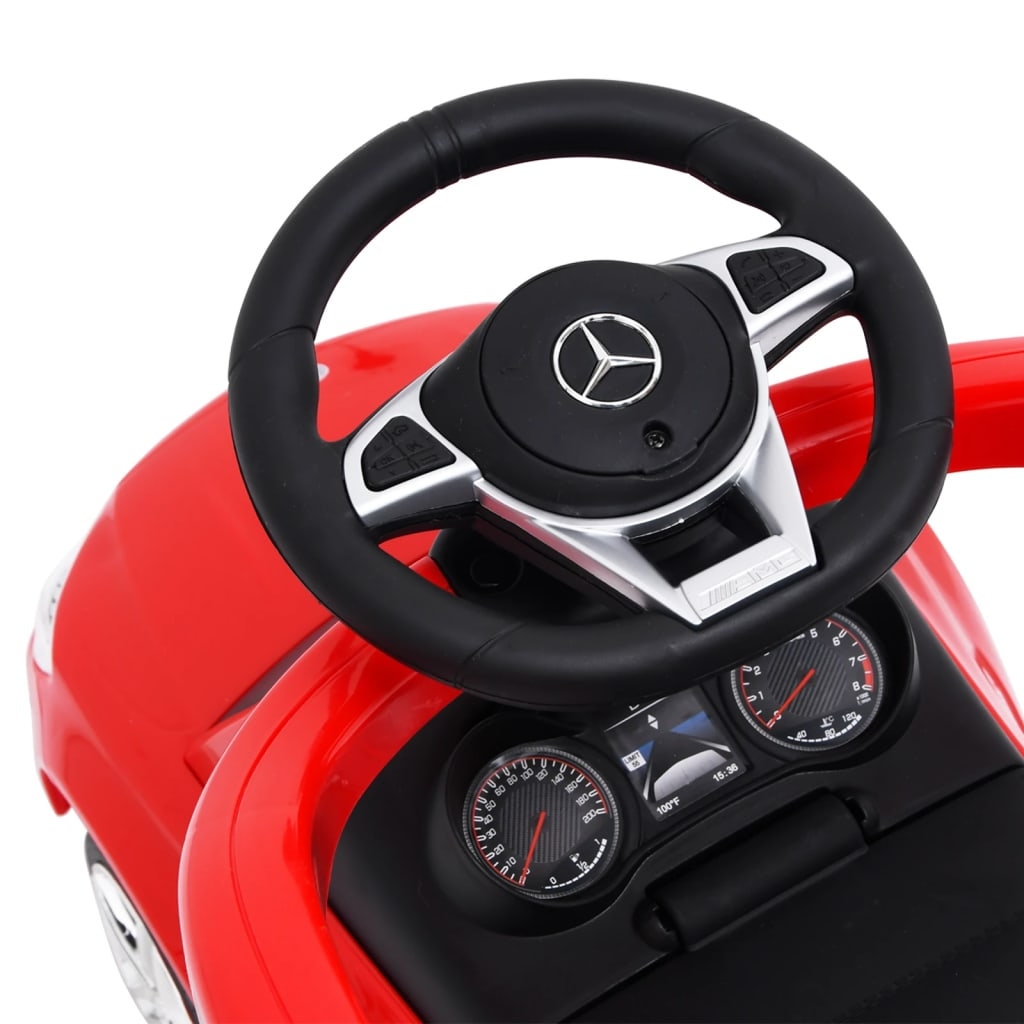 vidaXL Duw-loopauto Mercedes Benz C63 rood
