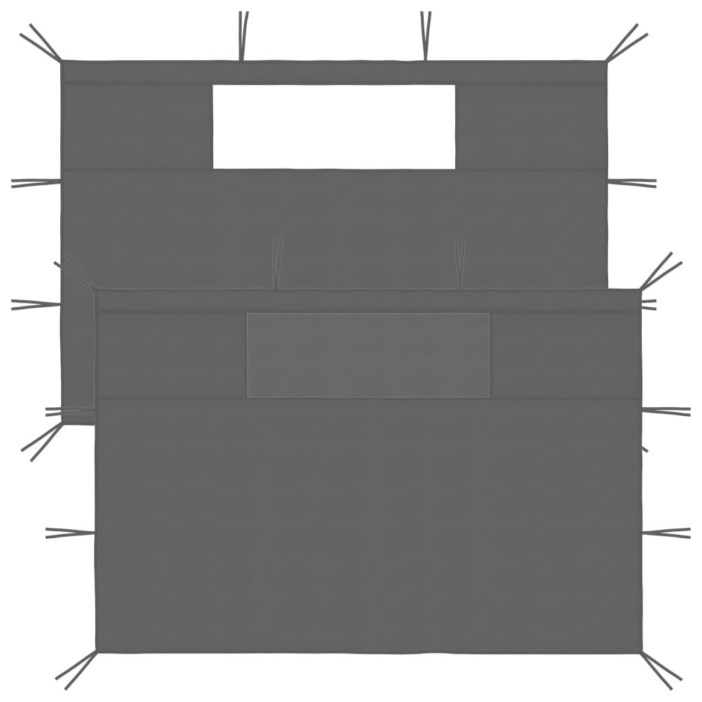 Boční stěny k party stanu s okny 2 ks antracitové