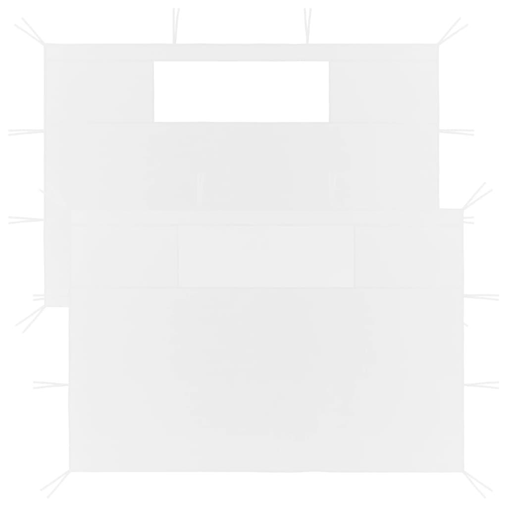 vidaXL Prieelzijwanden met ramen 2 st wit