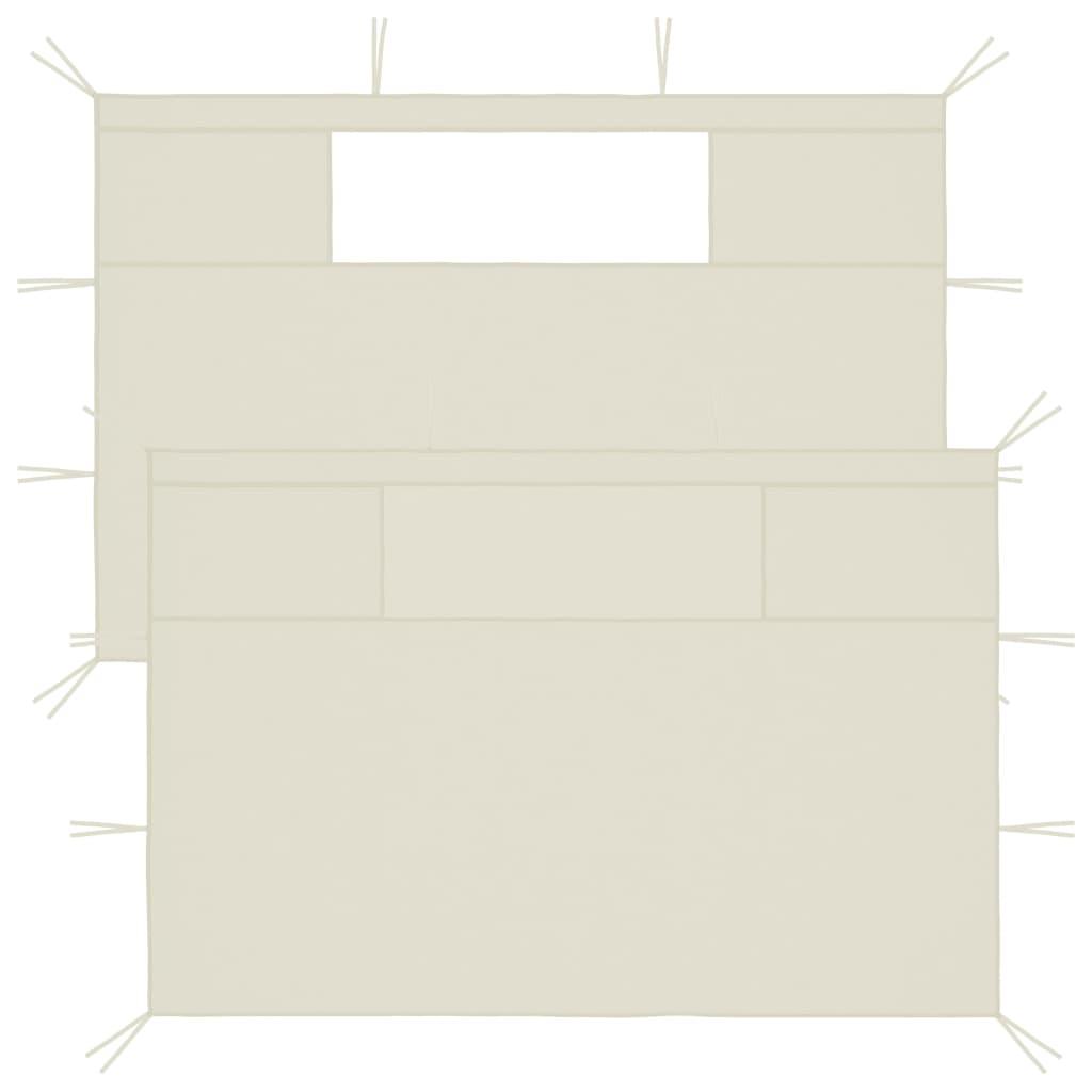 Boční stěny k party stanu s okny 2 ks krémové