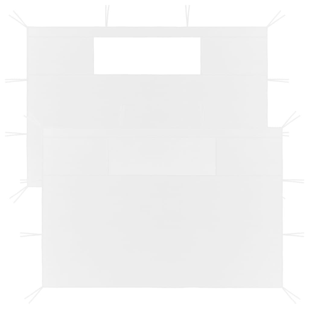 Boční stěny k party stanu s okny 2 ks bílé