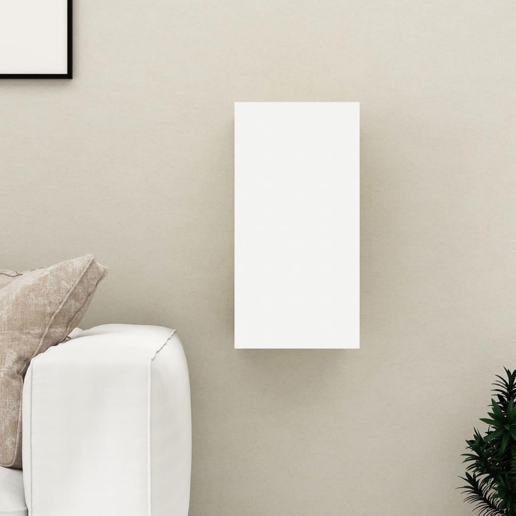 TV stolek bílý 30,5 x 30 x 60 cm dřevotříska