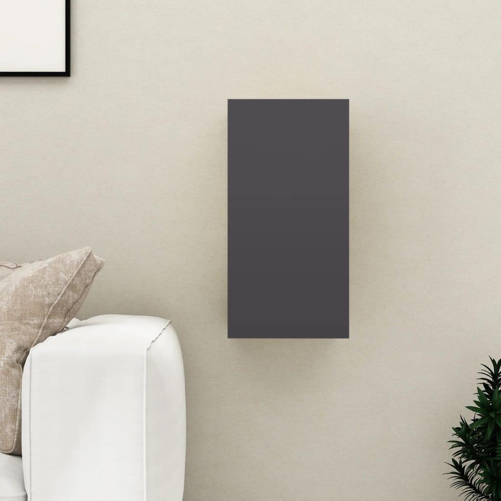 TV stolek šedý 30,5 x 30 x 60 cm dřevotříska