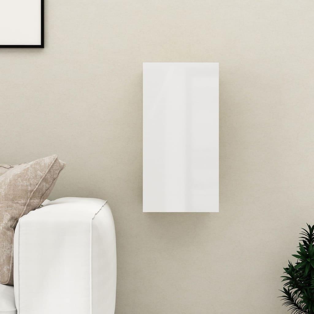 TV stolek bílý s vysokým leskem 30,5x30x60 cm dřevotříska