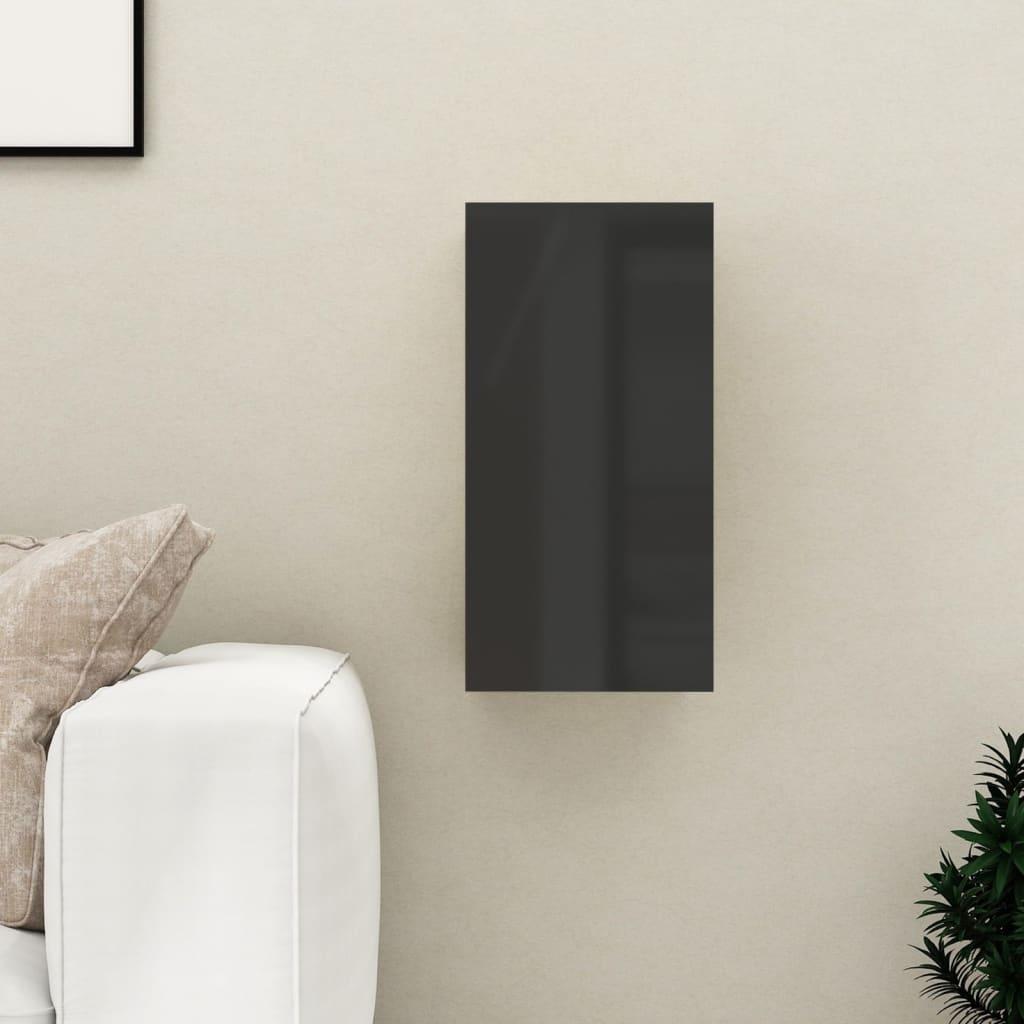 TV stolek černý s vysokým leskem 30,5x30x60 cm dřevotříska