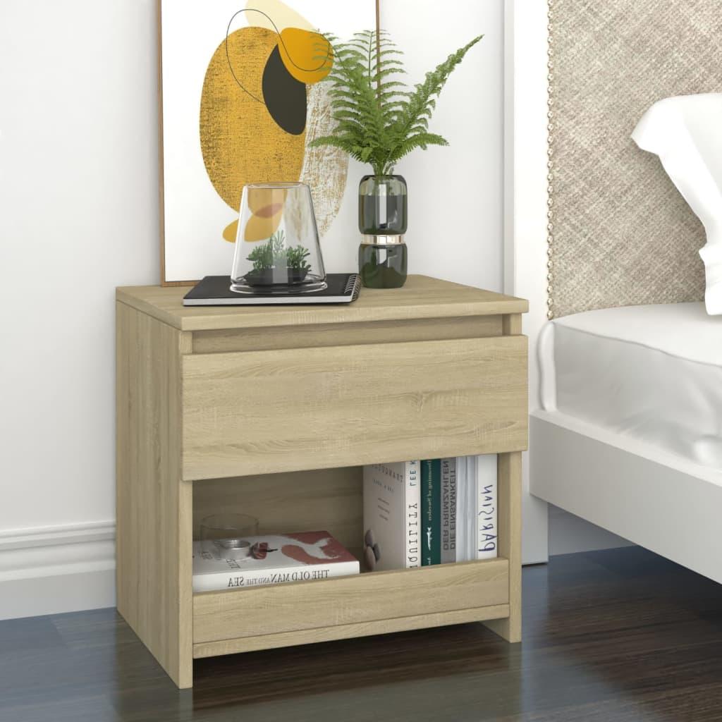 Noční stolek dub sonoma 40 x 30 x 39 cm dřevotříska