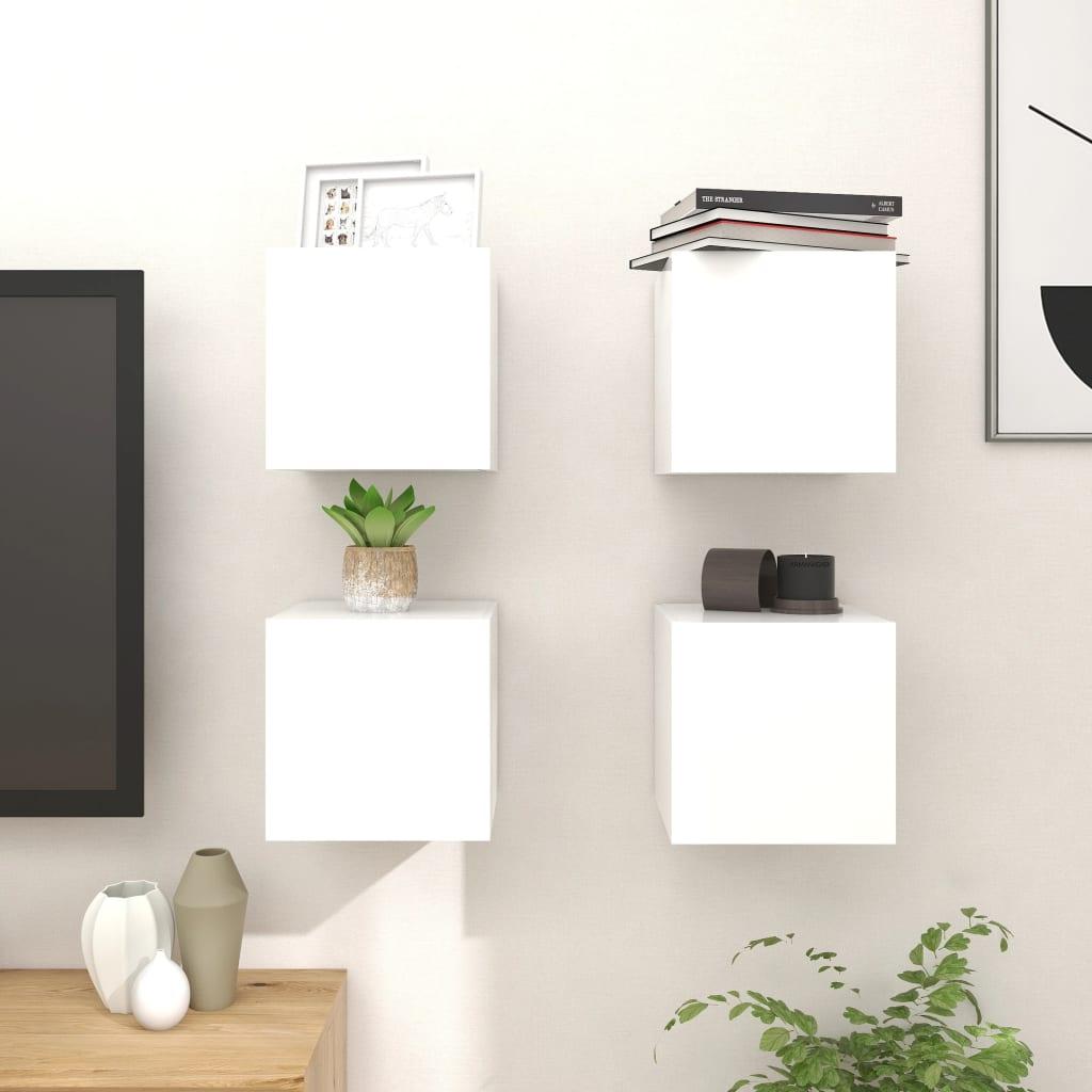Zidni TV ormarići 4 kom bijeli 30,5 x 30 x 30 cm