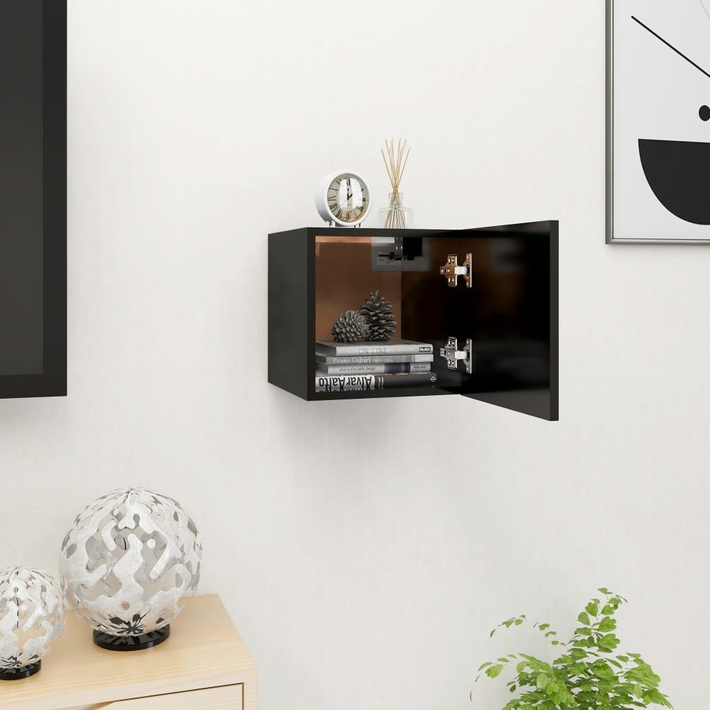 Nástěnná TV skříňka černá 30,5 x 30 x 30 cm