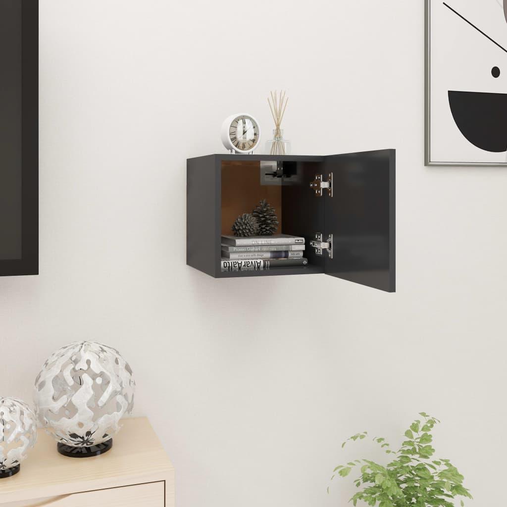 Nástěnná TV skříňka šedá 30,5 x 30 x 30 cm