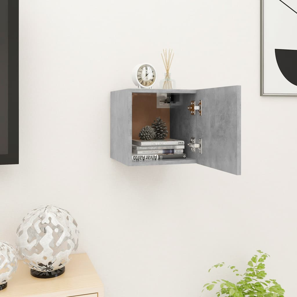 Nástěnná TV skříňka betonově šedá 30,5 x 30 x 30 cm