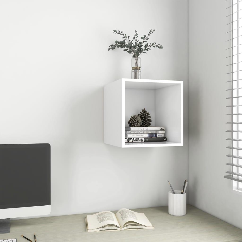 Wandschrank Weiß 37x37x37 cm Spanplatte