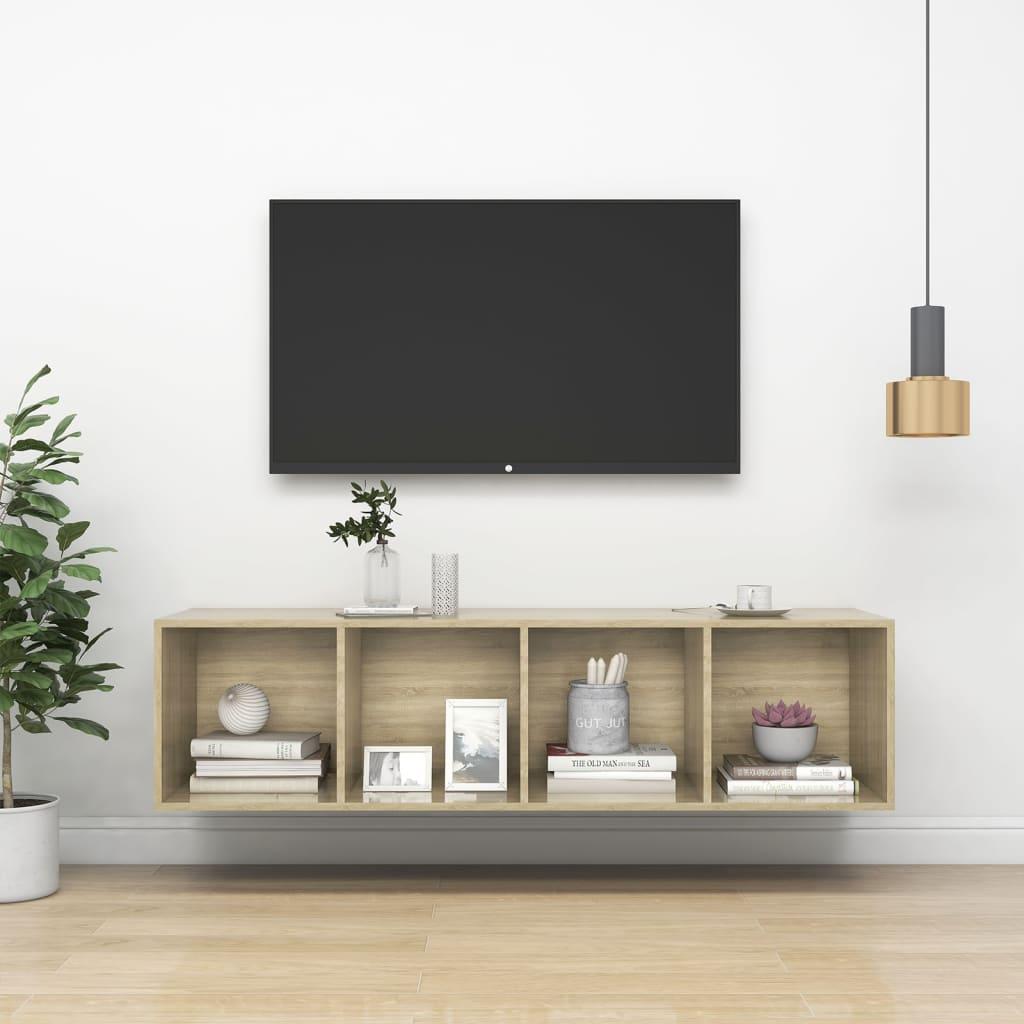 Zidni TV ormarić boja hrasta sonome 37x37x142,5 cm od iverice