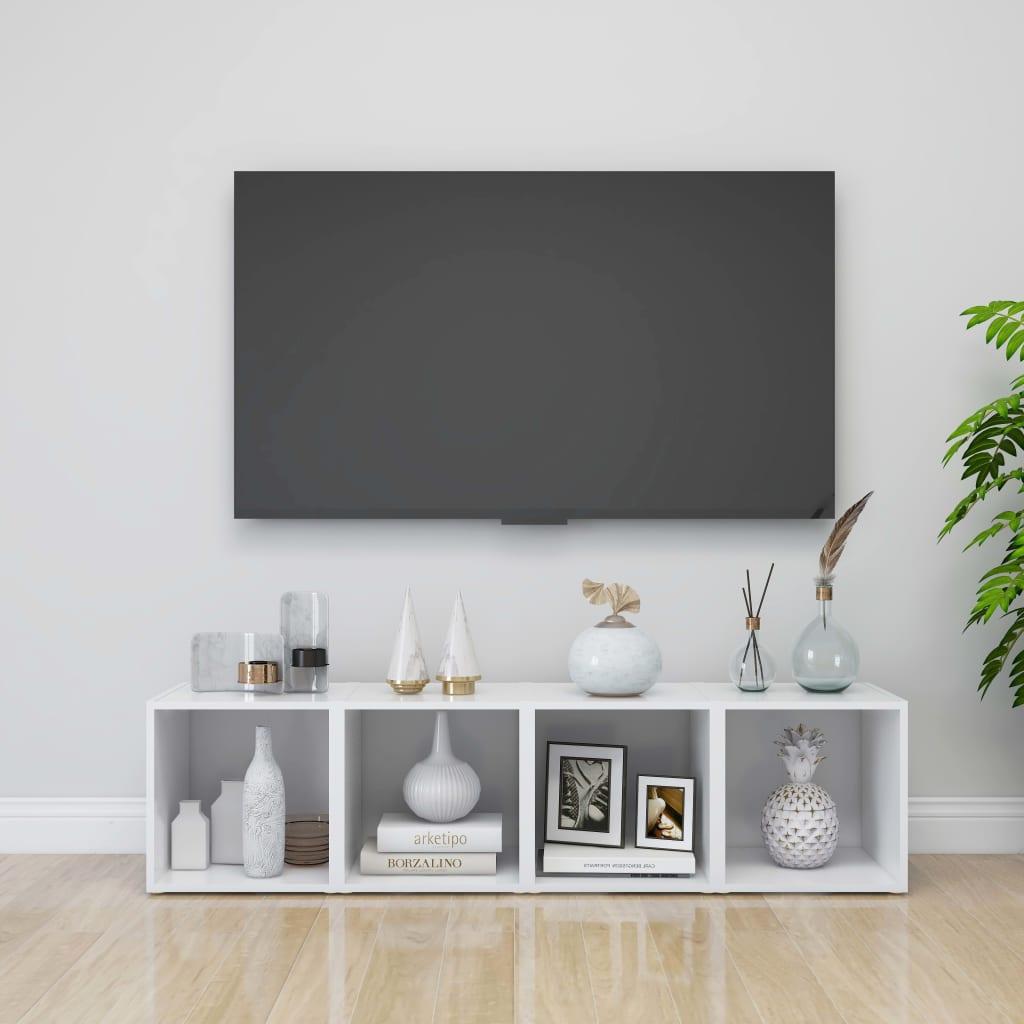 TV ormarići 4 kom bijeli 37 x 35 x 37 cm od iverice