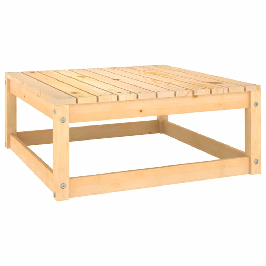 Zahradní stolička 70 x 70 x 30 cm masivní borové dřevo