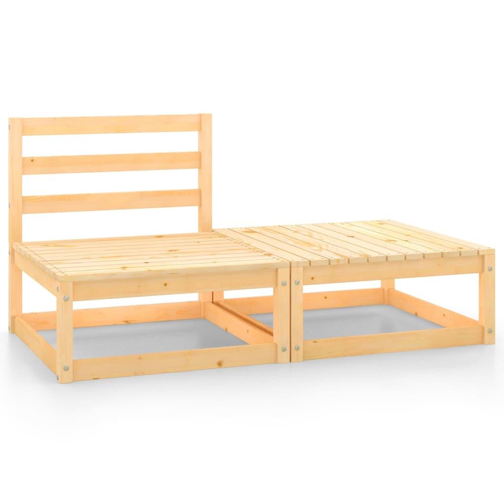 2dílná zahradní sedací souprava masivní borové dřevo