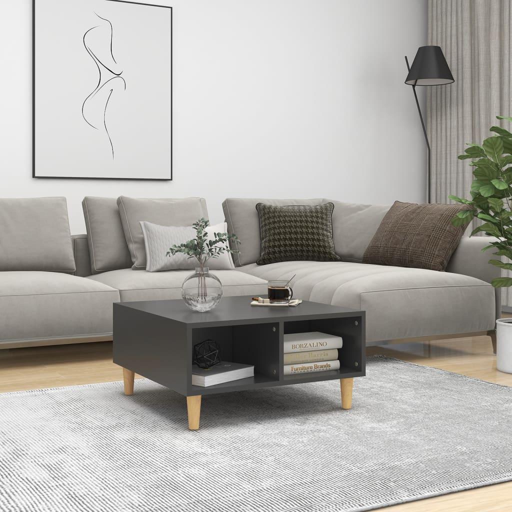vidaXL Stolić za kavu sivi 60 x 60 x 30 cm od iverice