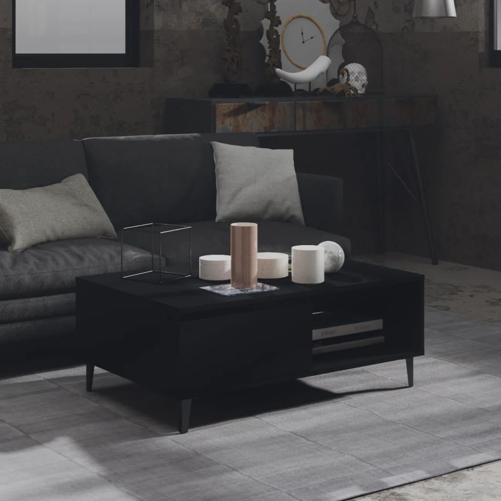 vidaXL Stolić za kavu crni 90 x 60 x 35 cm od iverice