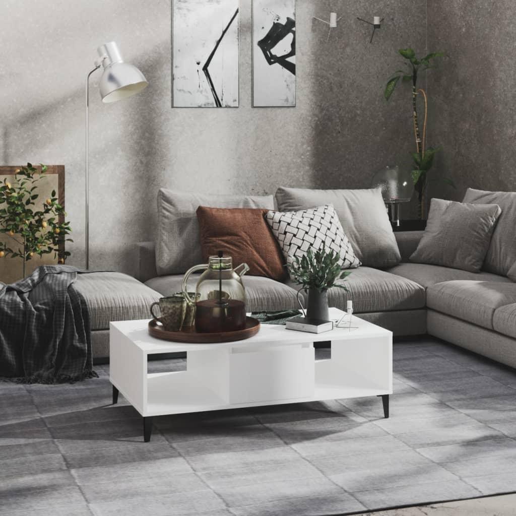 vidaXL Stolić za kavu bijeli 103,5 x 60 x 35 cm od iverice