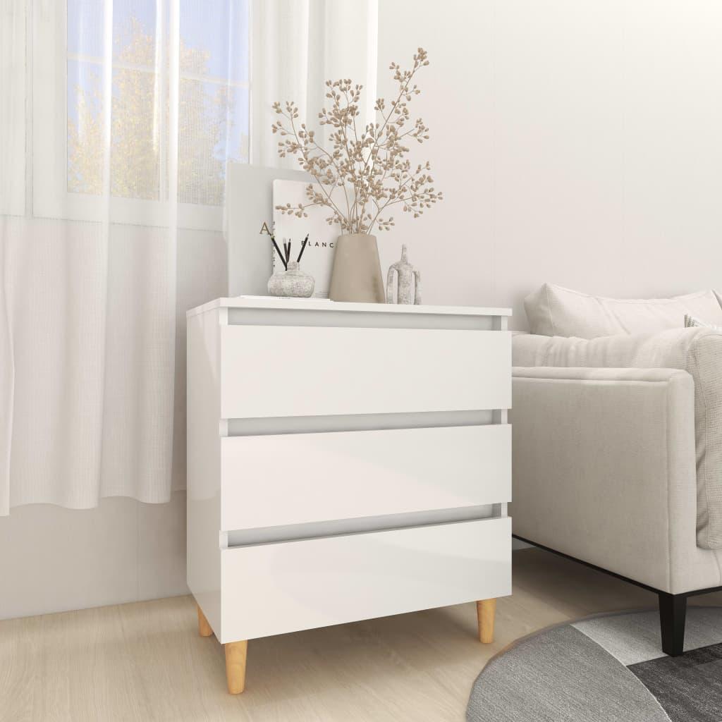 Dressoir 60x35x69 cm spaanplaat hoogglans wit