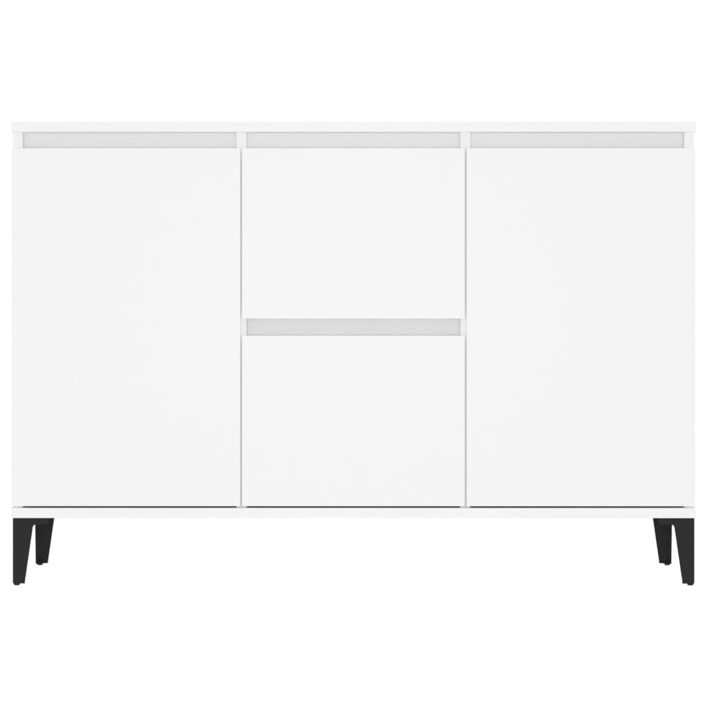 Dressoir 104x35x70 cm spaanplaat wit