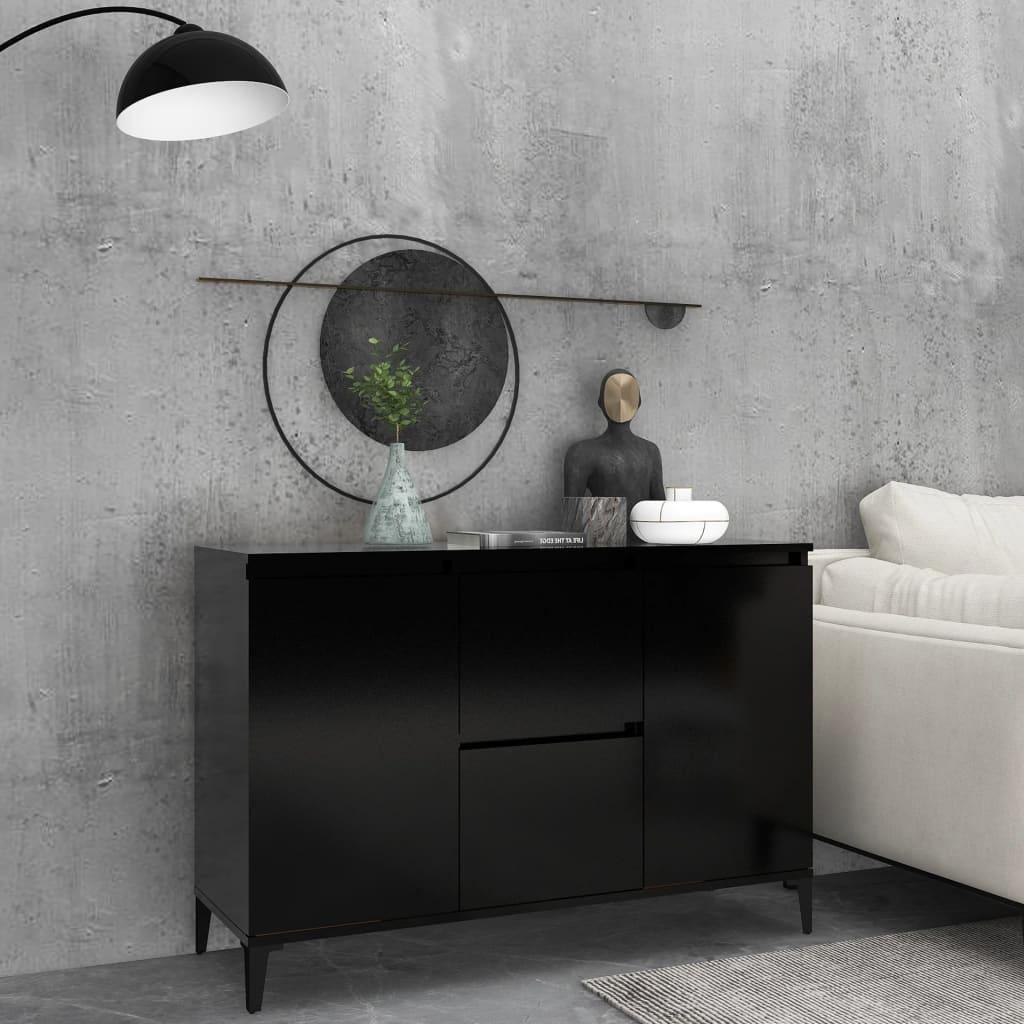 vidaXL Komoda crna 104 x 35 x 70 cm od iverice