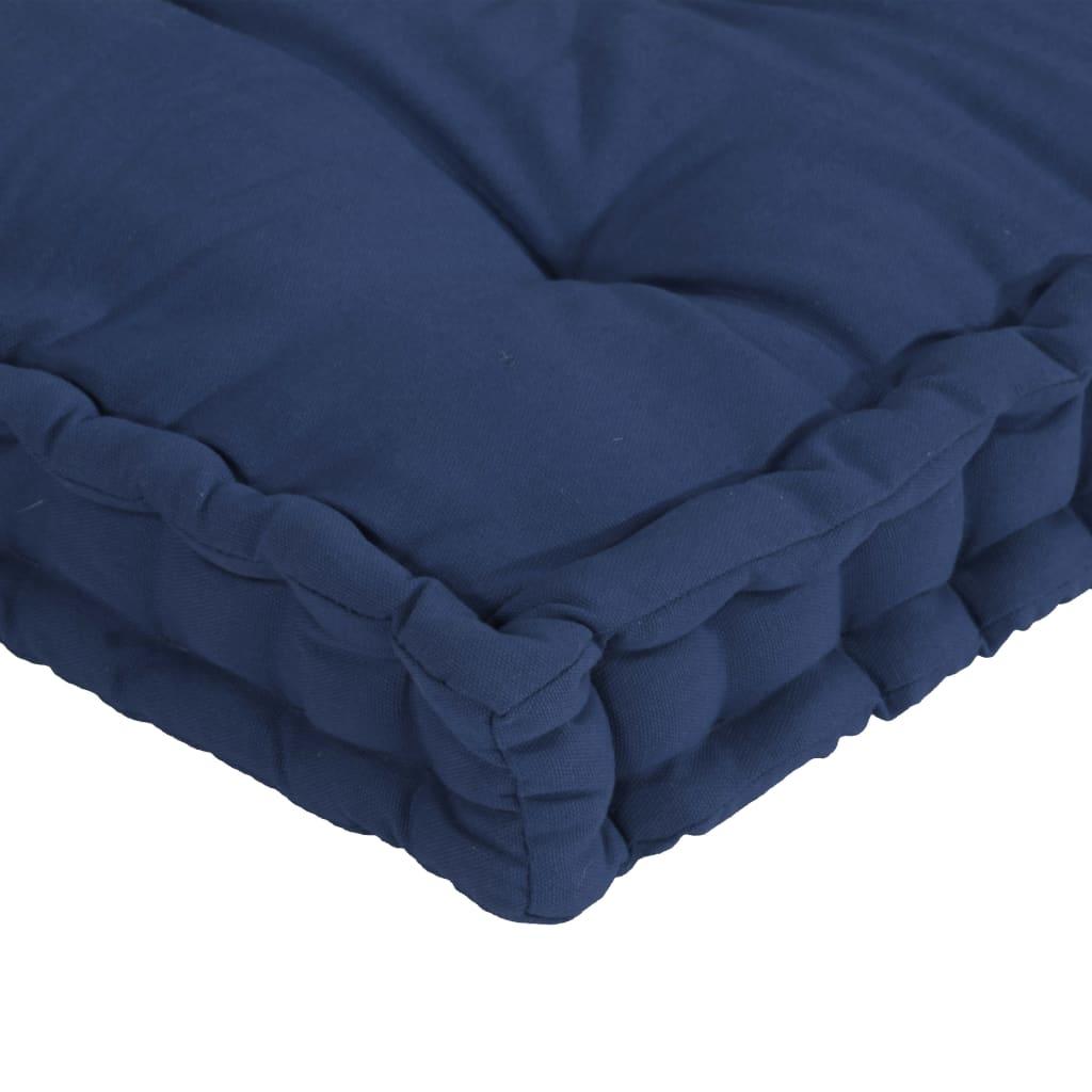 vidaXL Palletvloerkussens 7 st katoen licht marineblauw
