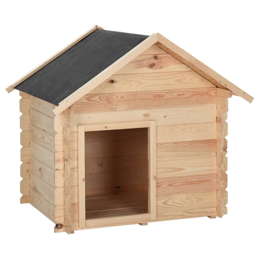 vidaXL Psí bouda 100 x 80 x 100 cm masivní borové dřevo 14 mm