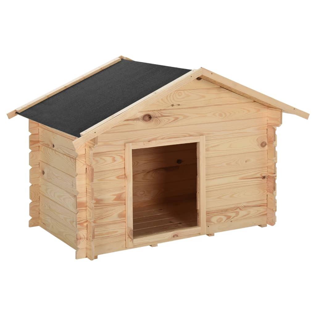 vidaXL Psí bouda 125 x 80 x 100 cm masivní borové dřevo 14 mm