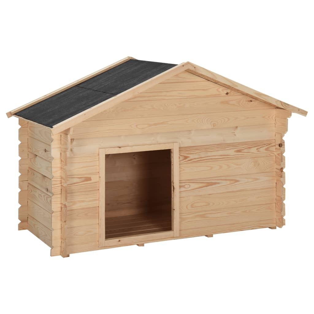 vidaXL Psí bouda 150 x 80 x 100 cm masivní borové dřevo 14 mm