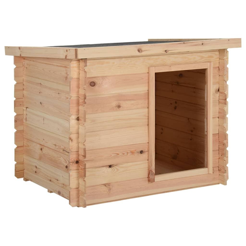 vidaXL Psí bouda 80 x 80 x 100 cm masivní borové dřevo 14 mm