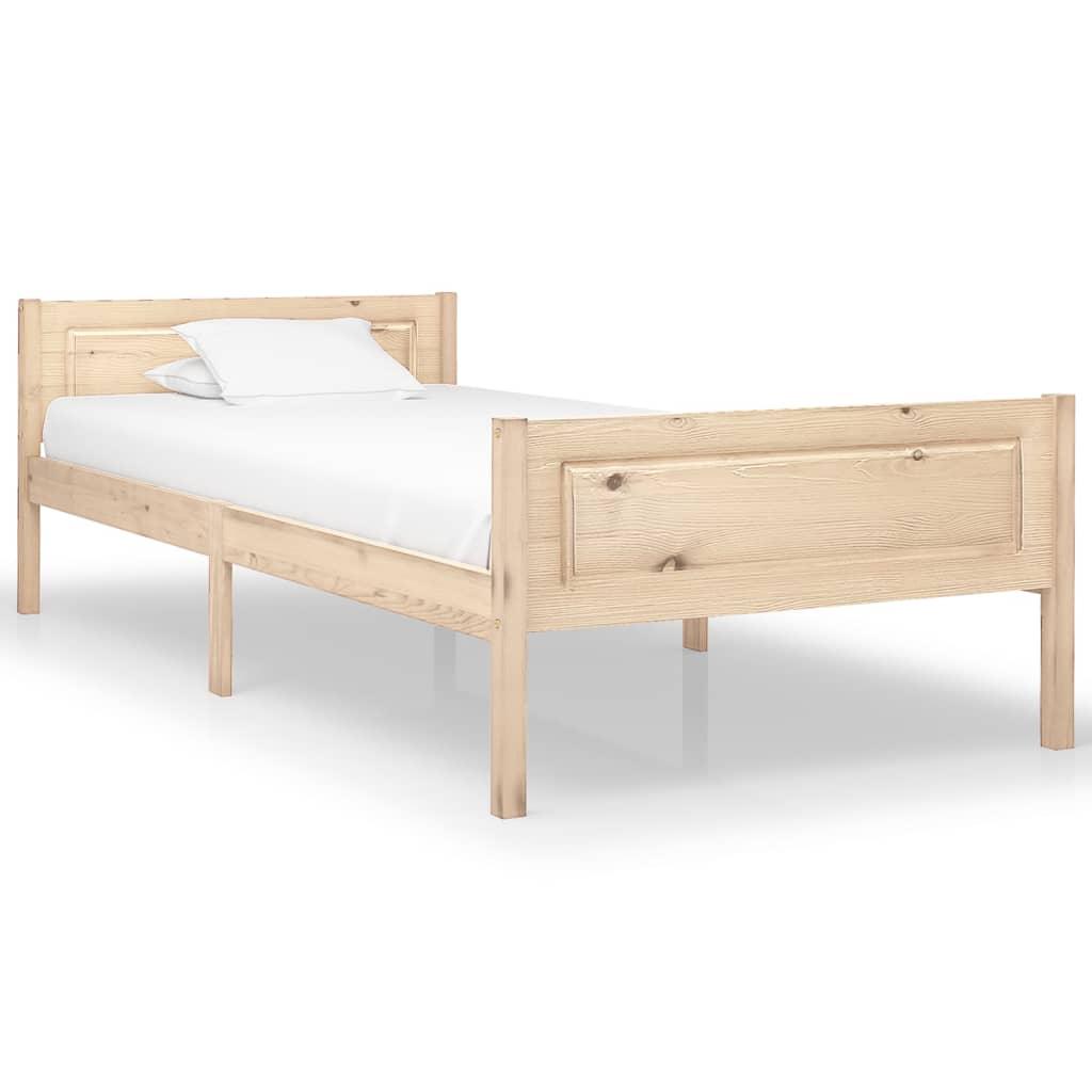 vidaXL Massivholzbett Kiefer 90×200 cm