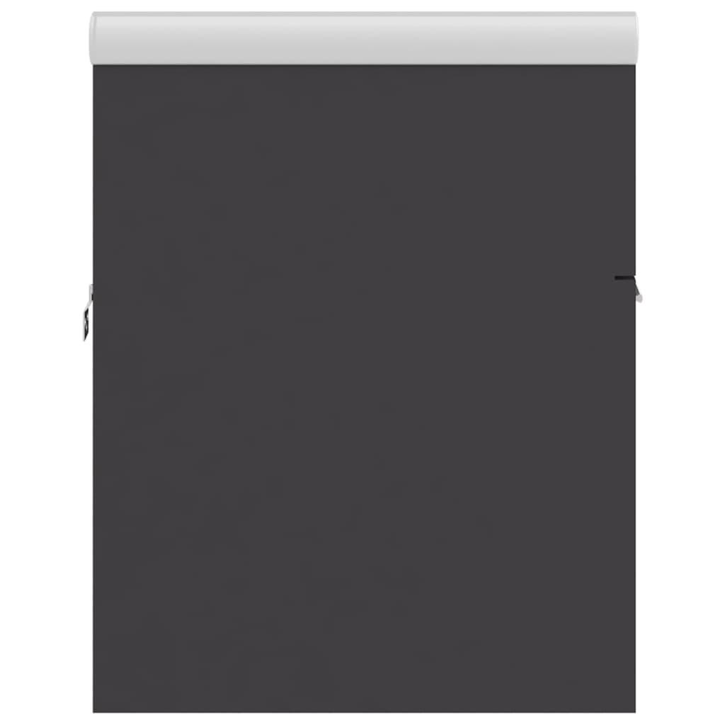 Wastafelkast met ingebouwde wastafel spaanplaat grijs