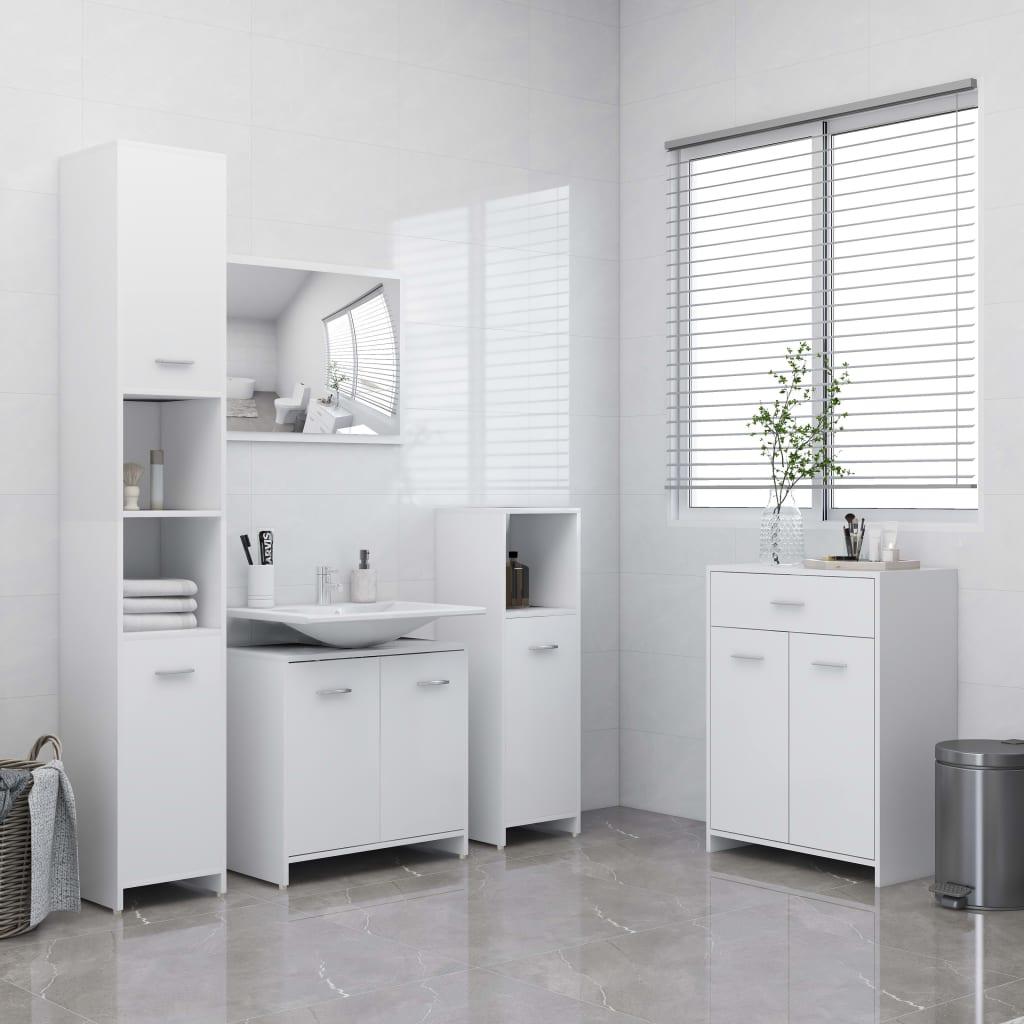 4-dijelni set kupaonskog namještaja bijeli
