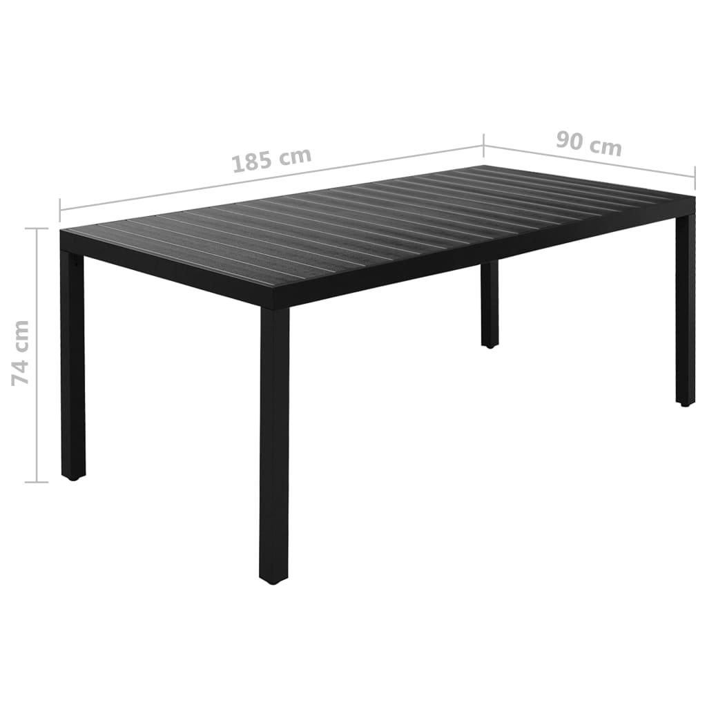 vidaXL 9-delige Tuinset aluminium zwart