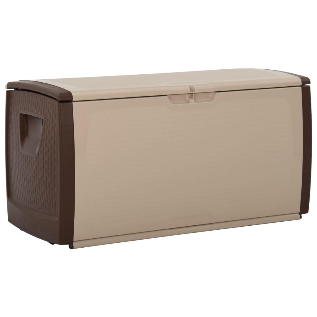 vidaXL Úložný box béžovo-hnědý 122 x 56 x 63 cm