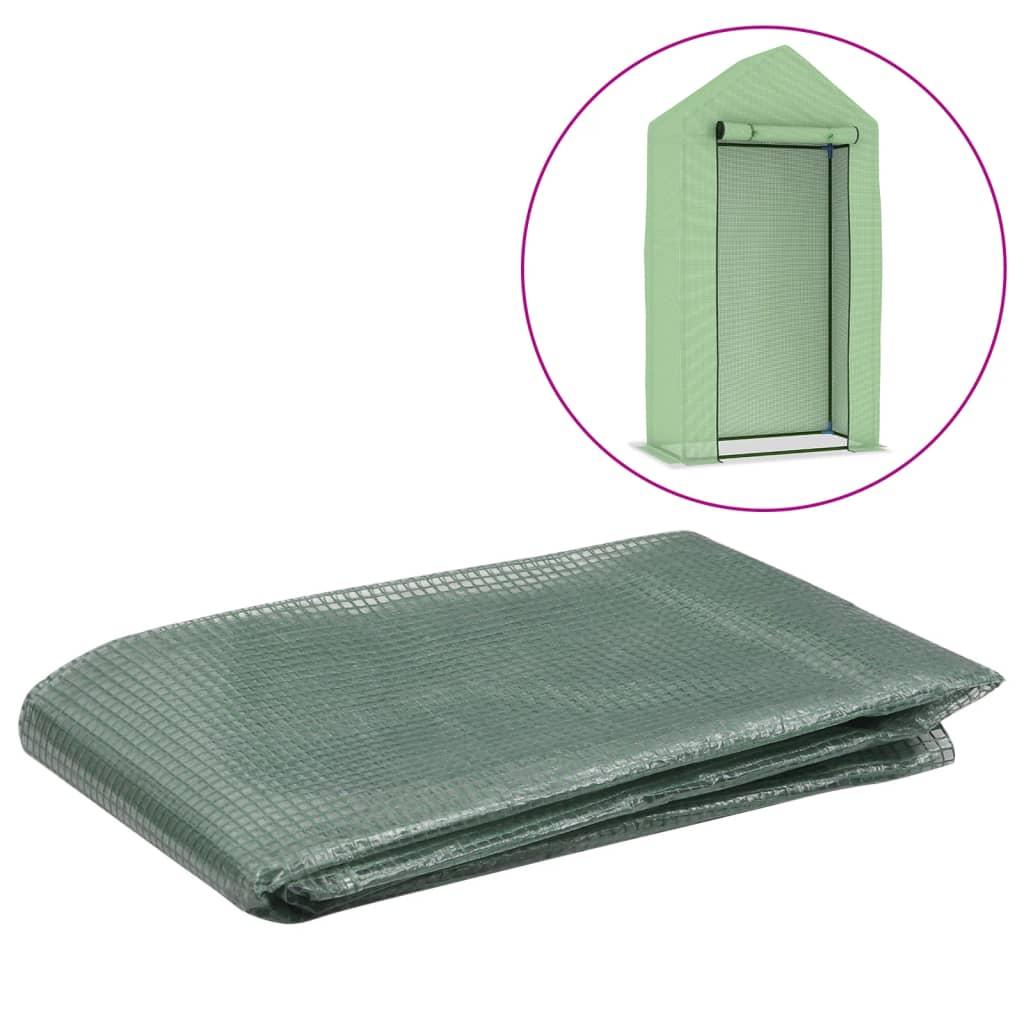 Náhradní plachta na skleník (0,5 m²) 50 x 100 x 190 cm zelená