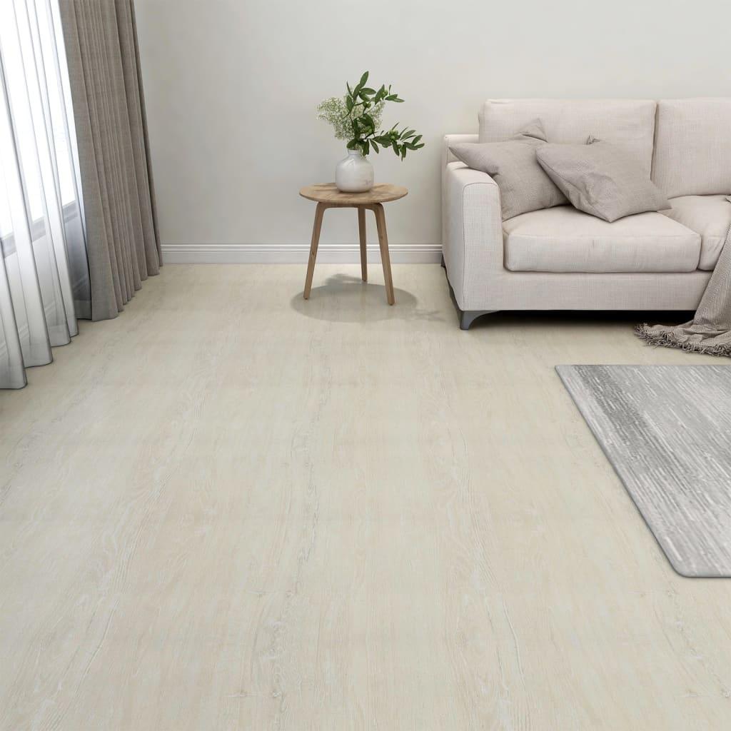 Samolepicí podlahové desky 20 ks PVC 1,86 m² krémové