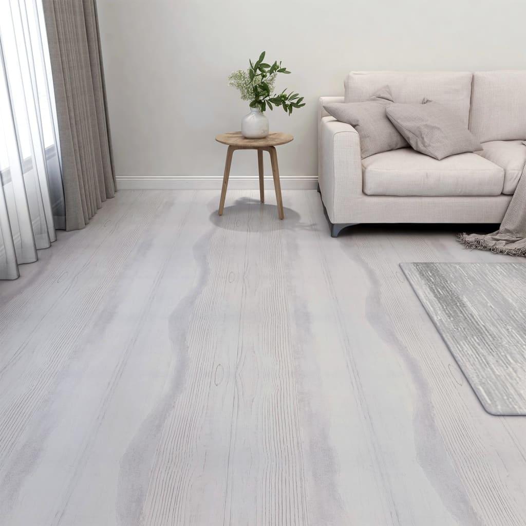 Samolepicí podlahové desky 20 ks PVC 1,86 m² světle šedé