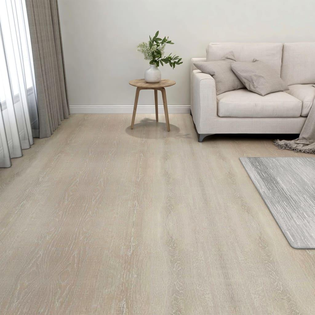 Samolepicí podlahové desky 20 ks PVC 1,86 m² béžové