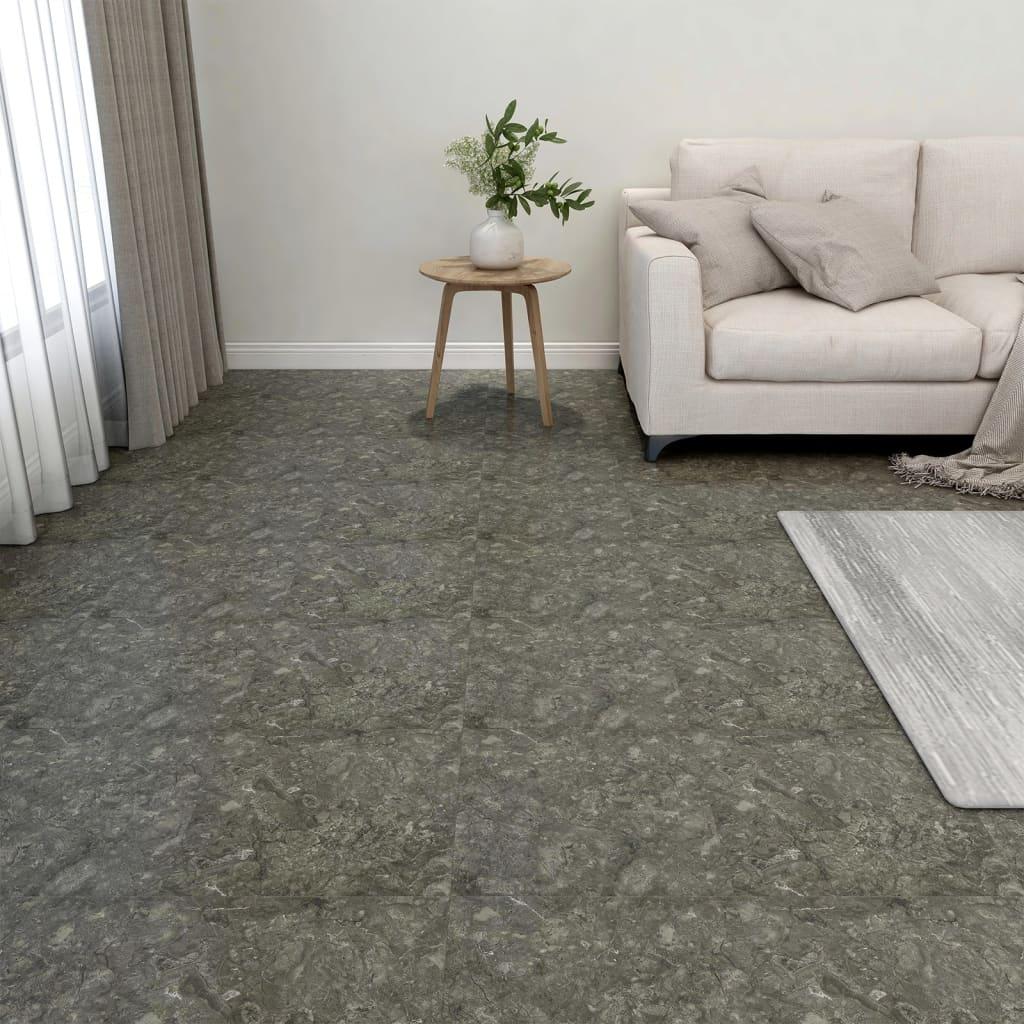 Samolepicí podlahové desky 20 ks PVC 1,86 m² šedé