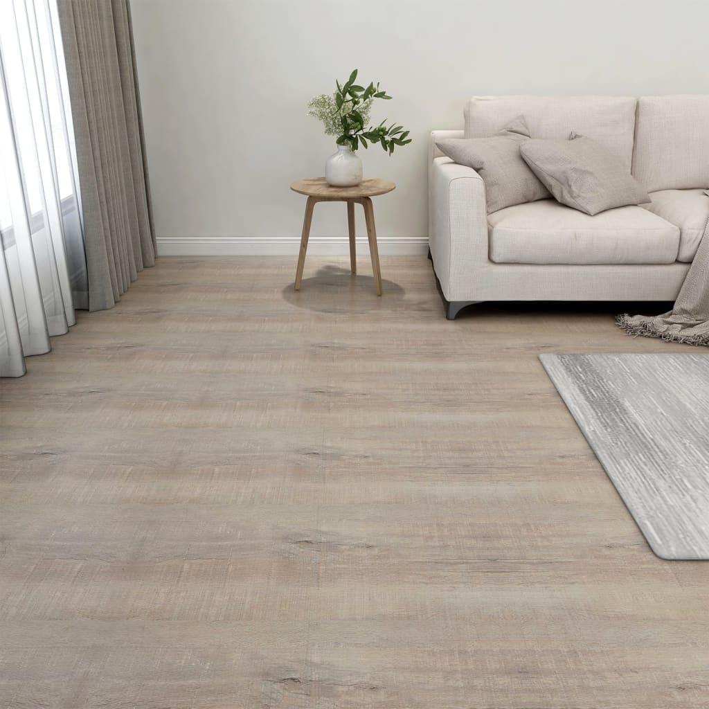 Samolepicí podlahové desky 20 ks PVC 1,86 m² taupe