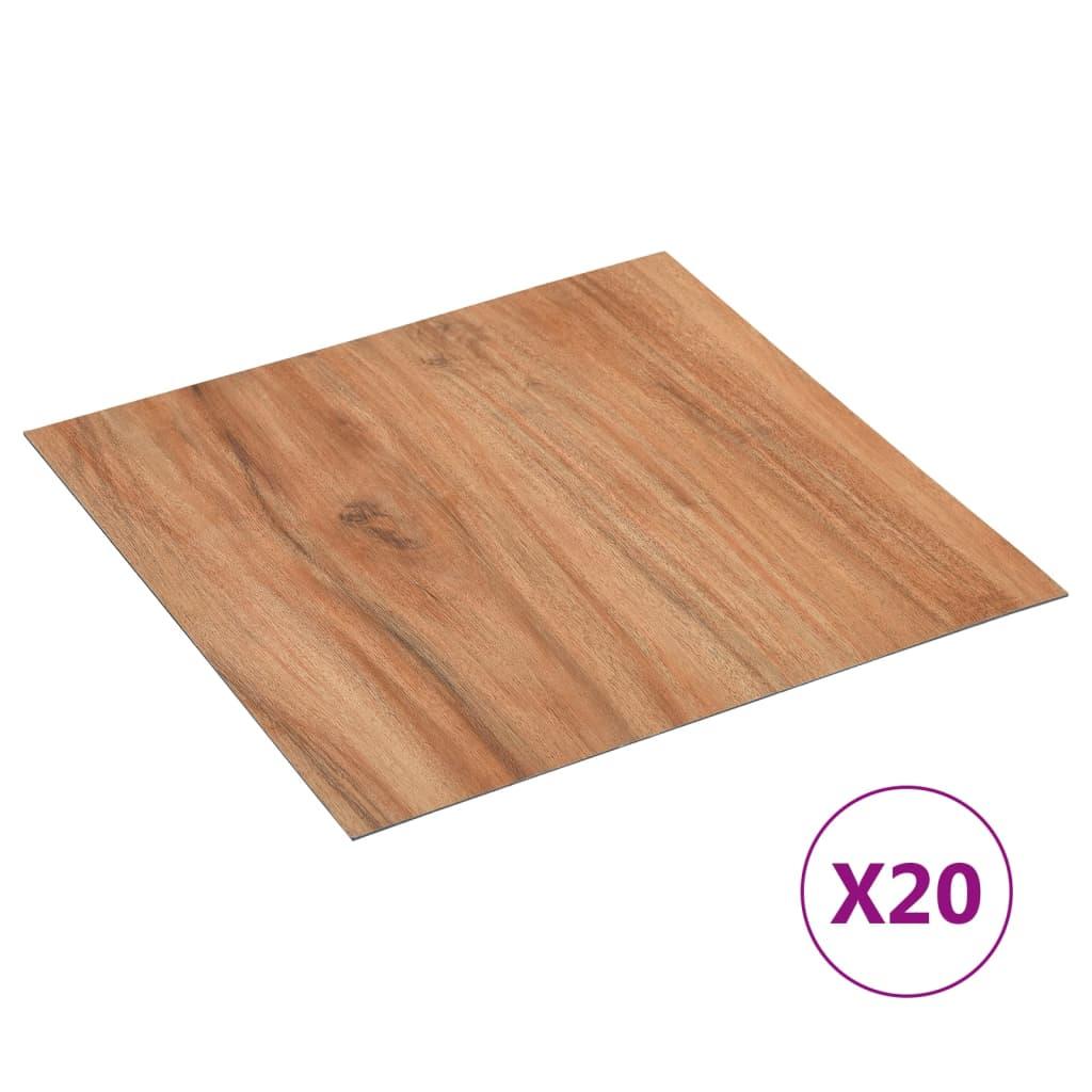 Samolepicí podlahové desky 20 ks PVC 1,86 m² světlé dřevo