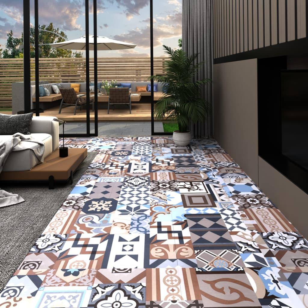 Samolepicí podlahové desky 20 ks PVC 1,86 m² mono vzor