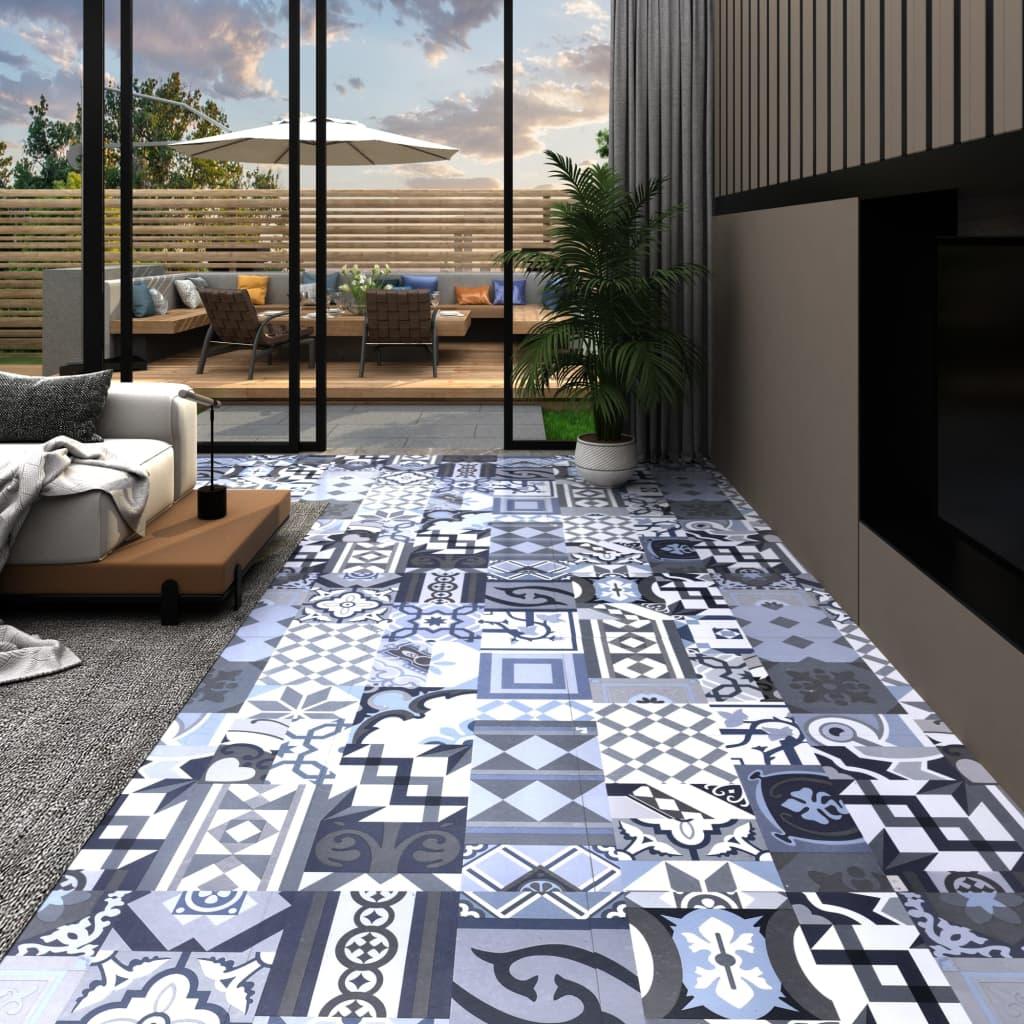 Samolepicí podlahové desky 20 ks PVC 1,86 m² barevný vzor
