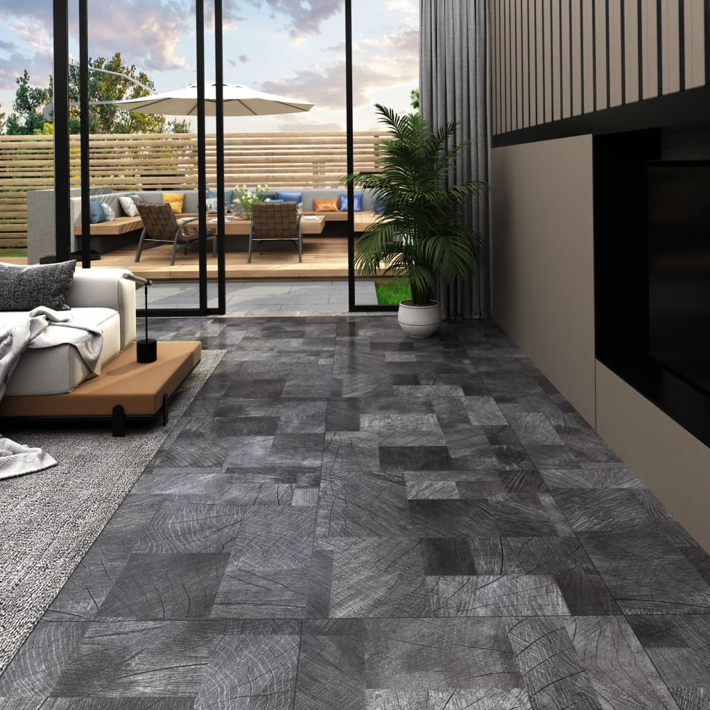 Samolepicí podlahové desky 20 ks PVC 1,86 m² struktura dřeva