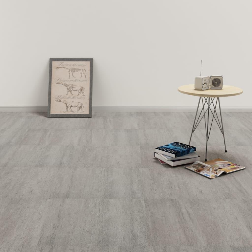 Samolepicí podlahové desky 20 ks PVC 1,86 m² šedé tupované