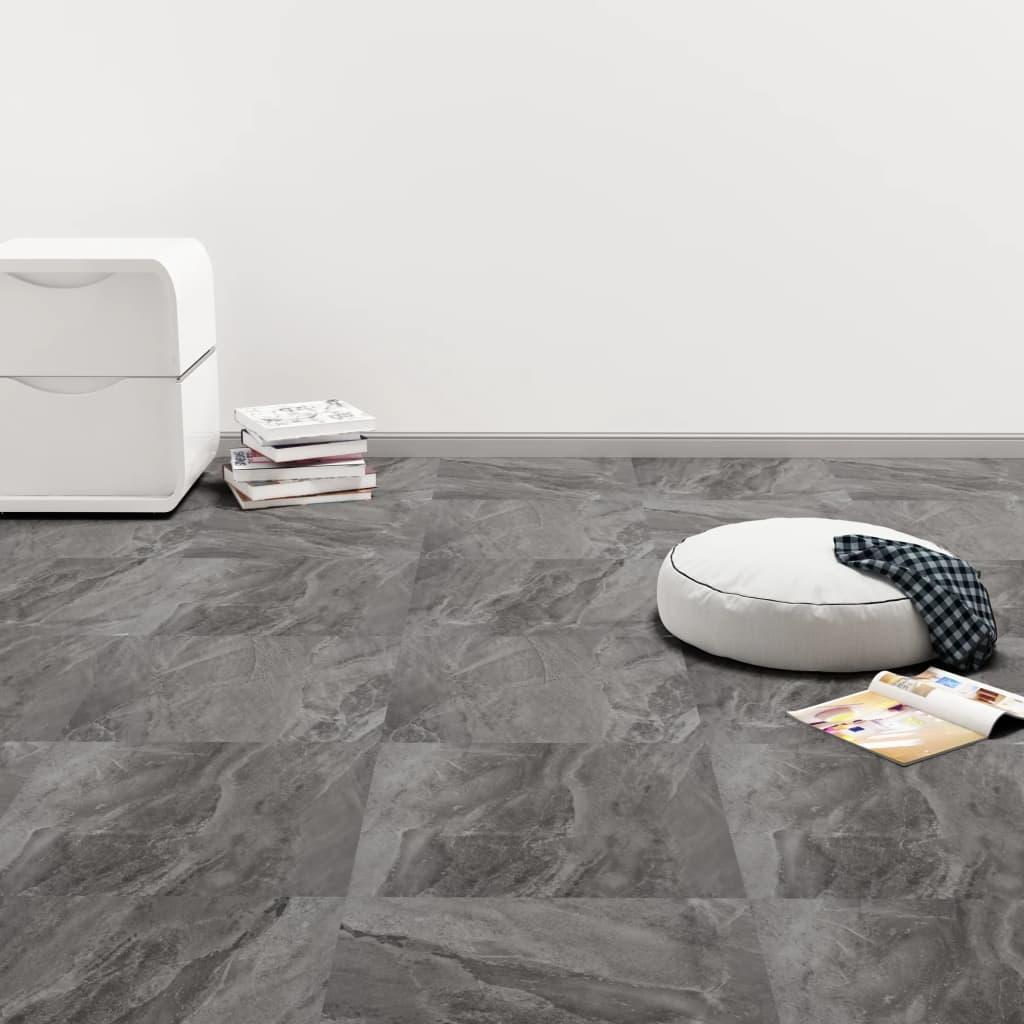 Samolepicí podlahové desky 20 ks PVC 1,86 m² černý vzor